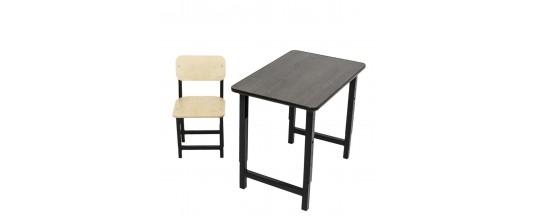 Набор регулируемые по высоте стол Мадий 1 и стул