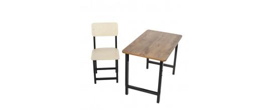 Комплект парта Мадий 7Т и стул растущие