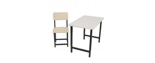 Комплект парта Мадий 7W и стул растущие
