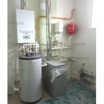 Установка отопления и водоснабжения