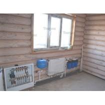 Установка отопления в доме из бруса
