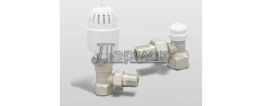 Термостатический комплект угловой с термоголовкой