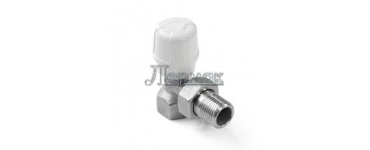 Угловой радиаторный клапан ручной регулировки 1/2 RBM